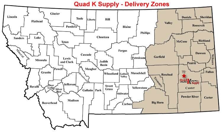 quad K supply delivery map